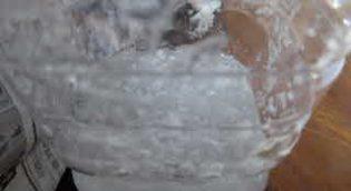 溶ける前のアルギン酸ナトリウム