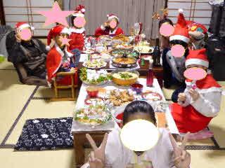 クリスマスパーティーの様子