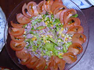 大きなお花風サラダ