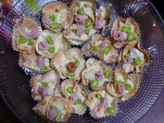 桃の花ポテトサラダ