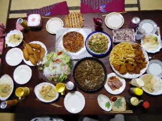 卒園式の夜の食卓