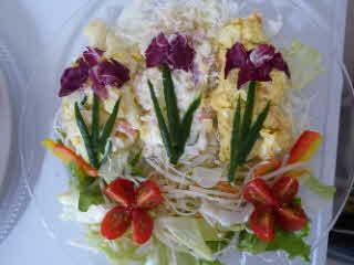 菖蒲風彩りサラダ