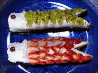 ロールケーキ鯉のぼり