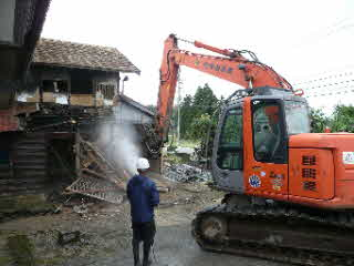 納屋の解体
